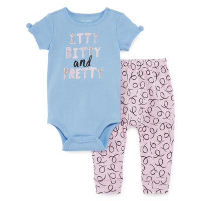 Okie Dokie 2-pc. Bodysuit Set-Baby Girls NB-24M