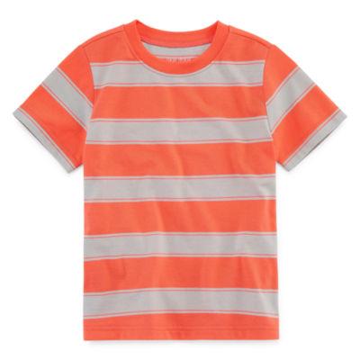 Okie Dokie Short Sleeve Crew Neck T-Shirt-Toddler Boys 2T-5T