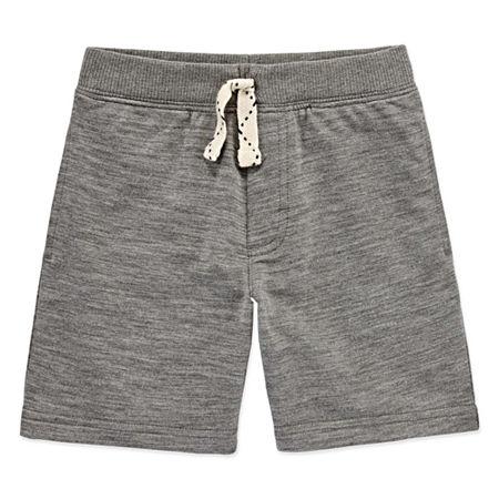 Okie Dokie Toddler Boys Pull-On Short, 3t , Gray