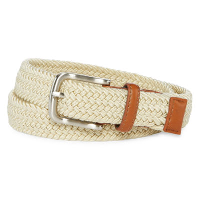 Izod Tan Stretch Web Belt - Boys 4-20