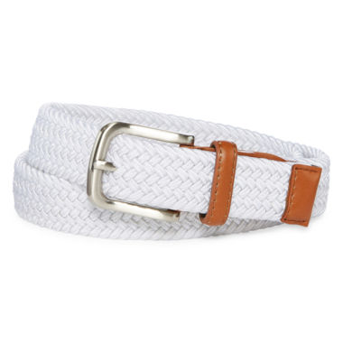 Izod White Stretch Web Belt - Boys 4-20
