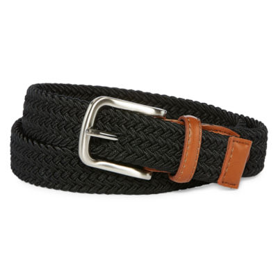 Izod Black Stretch Web Belt - Boys 4-20
