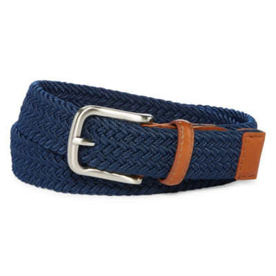 Navy Stretch Web Belt - Boys 4-20