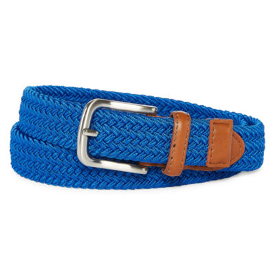 Bright Blue Stretch Web Belt - Boys 4-20