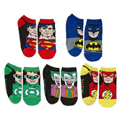 DC Comics License Socks 5 Pair Low Cut Socks