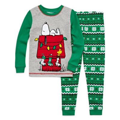 Snoopy Fairaisle 2 Piece Pajama Set - Toddler Boys