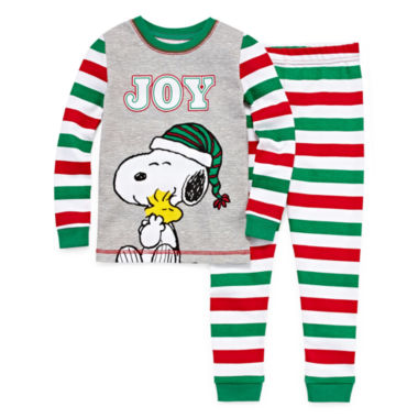 Snoopy 2 Piece Pajama Set - Toddler Boys