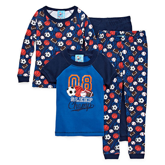 Sleep Champ 4 PC Pajama Set - Toddler Boys
