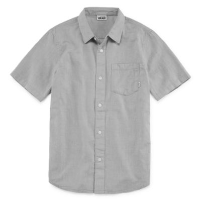 Vans Woven Short Sleeve Button-Front Shirt Boys