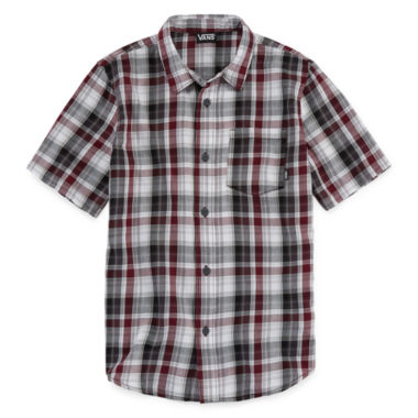Vans Short Sleeve Woven Short Sleeve Button-Front Shirt Boys