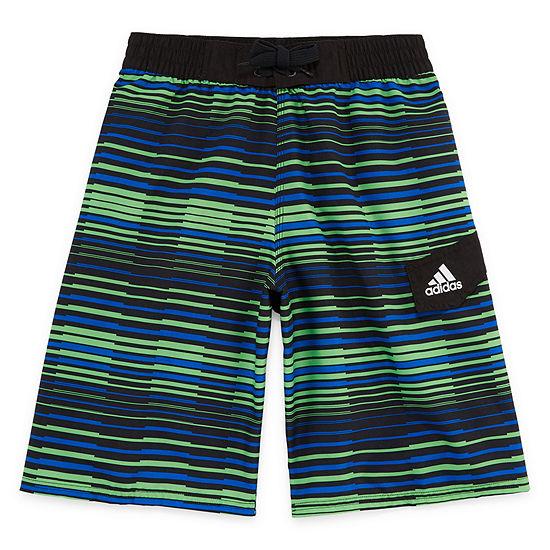 45fc1918d7 Adidas Vara Stripe Swim Trunks-Boys 8-20 - JCPenney