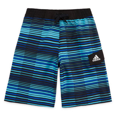 Adidas Vara Stripe Swim Trunks-Boys 8-20