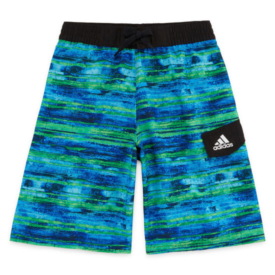 Adidas Water Stripe Swim Trunks-Boys 8-20
