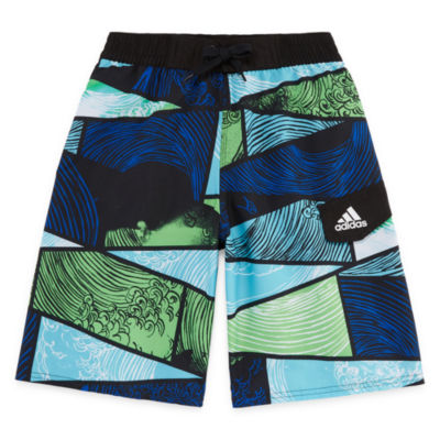 Adidas Patchwork Swim Trunks-Boys 8-20