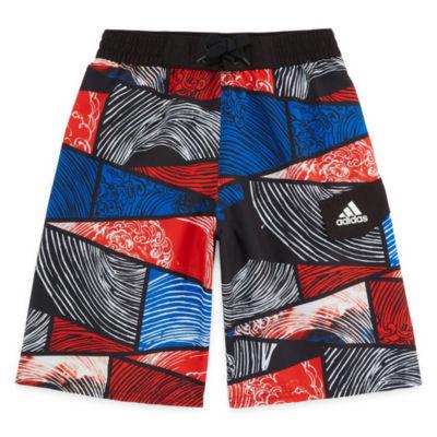 Adidas Patchwork  Swim Trunks-Boys 8-20