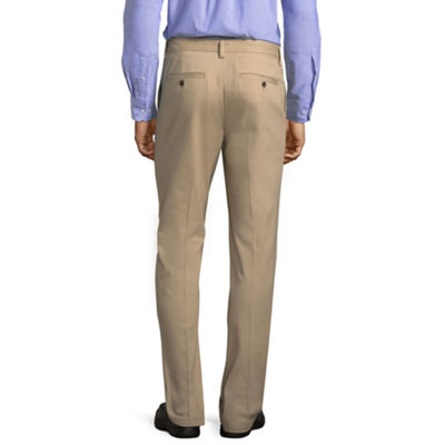 St. John's Bay Mens Slim Fit Flat Front Pant
