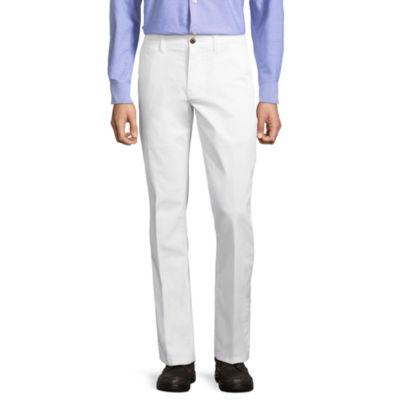 St. John's Bay Mens Slim Fit Flat Front Pant