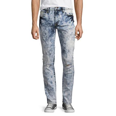 Arizona Mens Skinny Fit Jean, 31 30, Blue