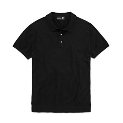 JF J.Ferrar Casualization Short Sleeve Woven Polo Shirt