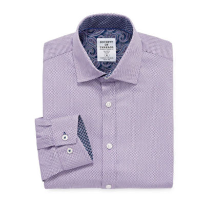 Society Of Threads Society Of Threads Dress Shirt Long Sleeve Woven Circles Dress Shirt - Slim