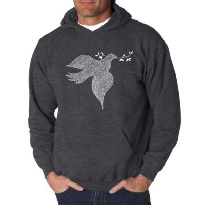Los Angeles Pop Art Dove Logo Hoodie -  Men's Bigand Tall