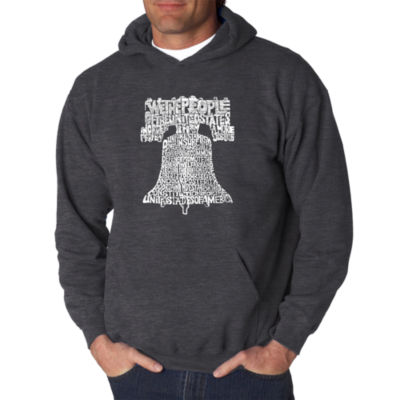 Los Angeles Pop Art Liberty Bell Logo Hoodie -  Men's Big and Tall