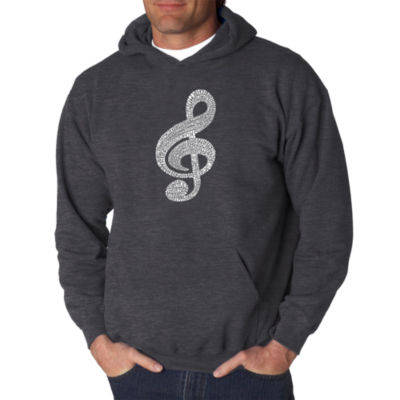 Los Angeles Pop Art Music Note Logo Hoodie -  Men's Big and Tall