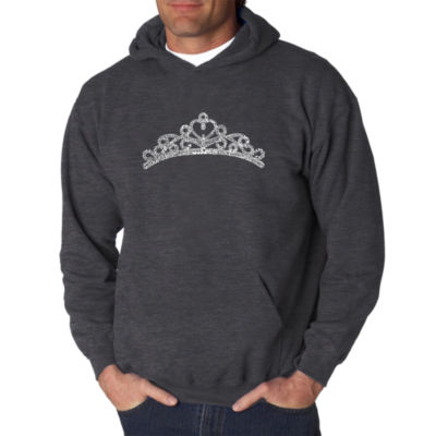 Los Angeles Pop Art Princess Tiara Logo Hoodie -Men's Big and Tall