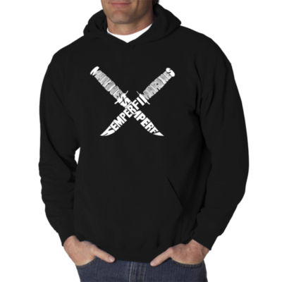 Los Angeles Pop Art Semper Fi Logo Hoodie -  Men'sBig and Tall