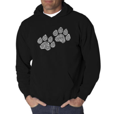 Los Angeles Pop Art Woof Paw Prints Logo Hoodie -Men's Big and Tall