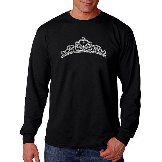 Los Angeles Pop Art Princess Tiara Mens T-Shirt-Big and Tall