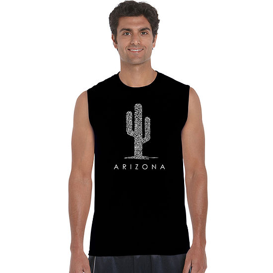 Los Angeles Pop Art Arizona Cities Mens Tank Top Big and Tall