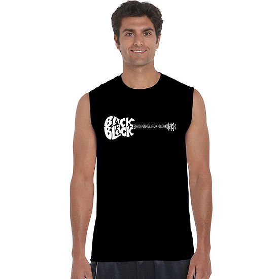 Los Angeles Pop Art Back In Black Mens Tank Top Big and Tall