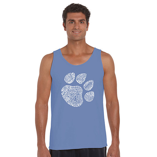 Los Angeles Pop Art Catpaw Mens Tank Top Big and Tall