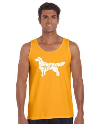 Los Angeles Pop Art Golden Retreiver Tank Top Big and Tall