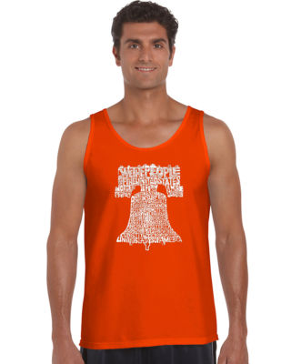 Los Angeles Pop Art Liberty Bell Tank Top Big and Tall