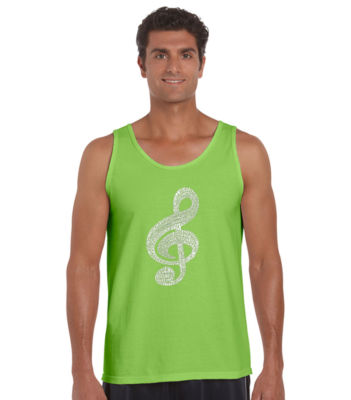 Los Angeles Pop Art Music Note Tank Top Big and Tall