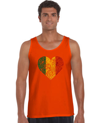 Los Angeles Pop Art One Love Heart Mens Tank Top Big and Tall