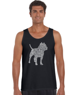 Los Angeles Pop Art Pitbull Mens Tank Top Big and Tall