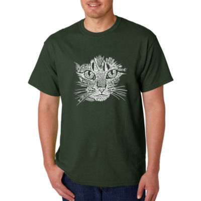 Los Angeles Pop Art Catface Logo Graphic T-Shirt-Big and Tall