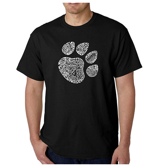 Los Angeles Pop Art-Big and Tall Catpaw Mens Graphic T-Shirt