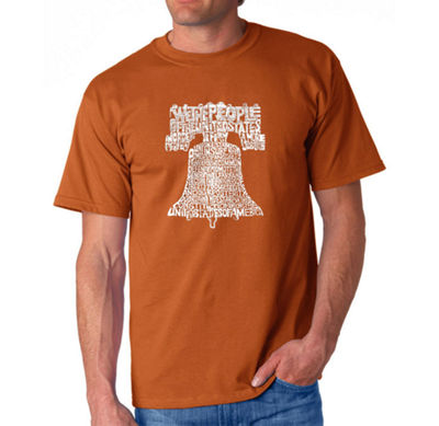 Los Angeles Pop Art Liberty Bell Mens Graphic T-Shirt-Big and Tall