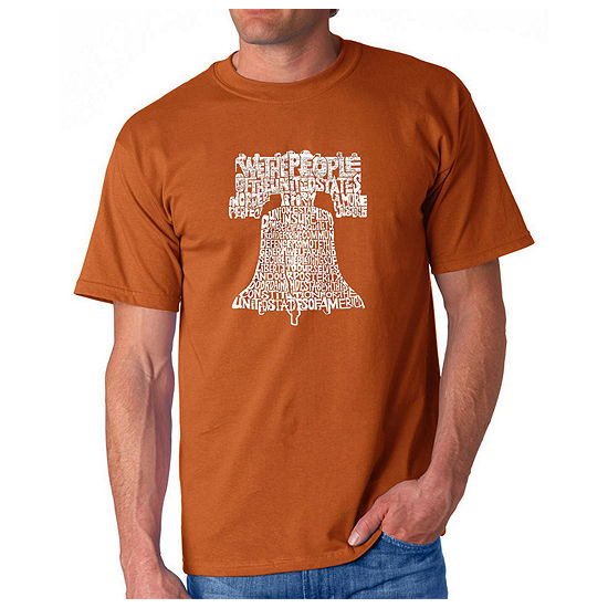 Los Angeles Pop Art Liberty Bell Mens Graphic T Shirt Big And Tall