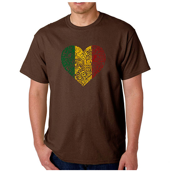 Los Angeles Pop Art One Love Heart Mens Graphic T-Shirt-Big and Tall