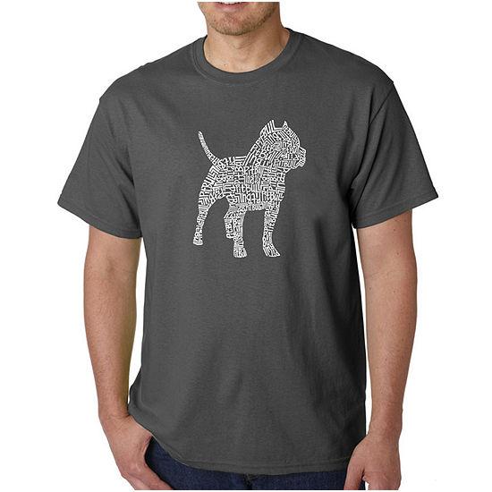 Los Angeles Pop Art-Big and Tall Pitbull Mens Graphic T-Shirt
