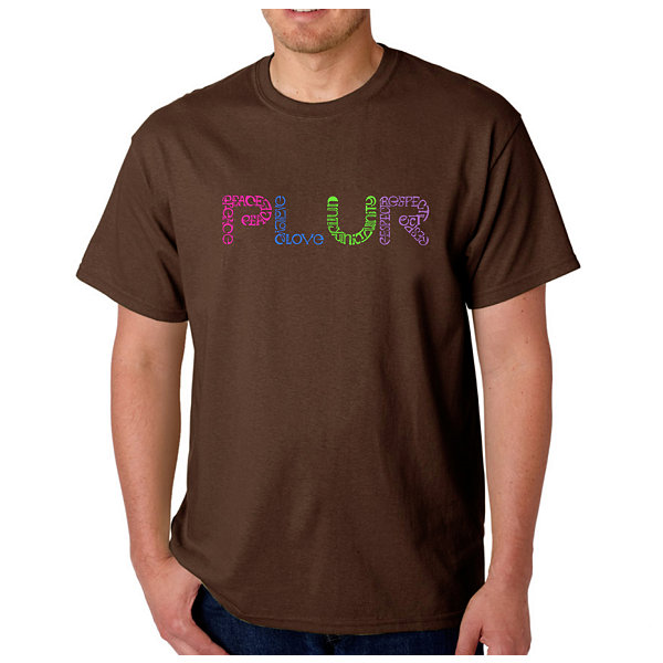 Los Angeles Pop Art Plur Logo Graphic Word Art T-Shirt- Men's Big and Tall