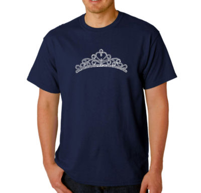 Los Angeles Pop Art Princess Tiara Logo Graphic Word Art T-Shirt- Men's Big and Tall