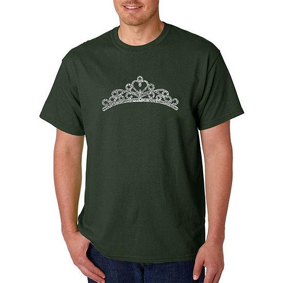 Los Angeles Pop Art-Big and Tall Princess Tiara Mens Graphic T-Shirt