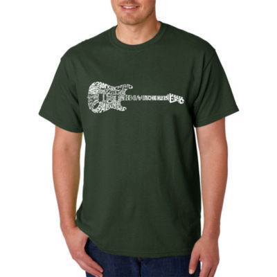Los Angeles Pop Art Rock Guitar Logo Graphic T-Shirt-Big and Tall