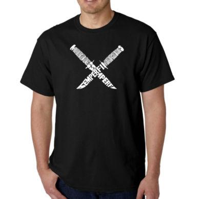 Los Angeles Pop Art Semper Fi Mens Graphic T-Shirt-Big and Tall